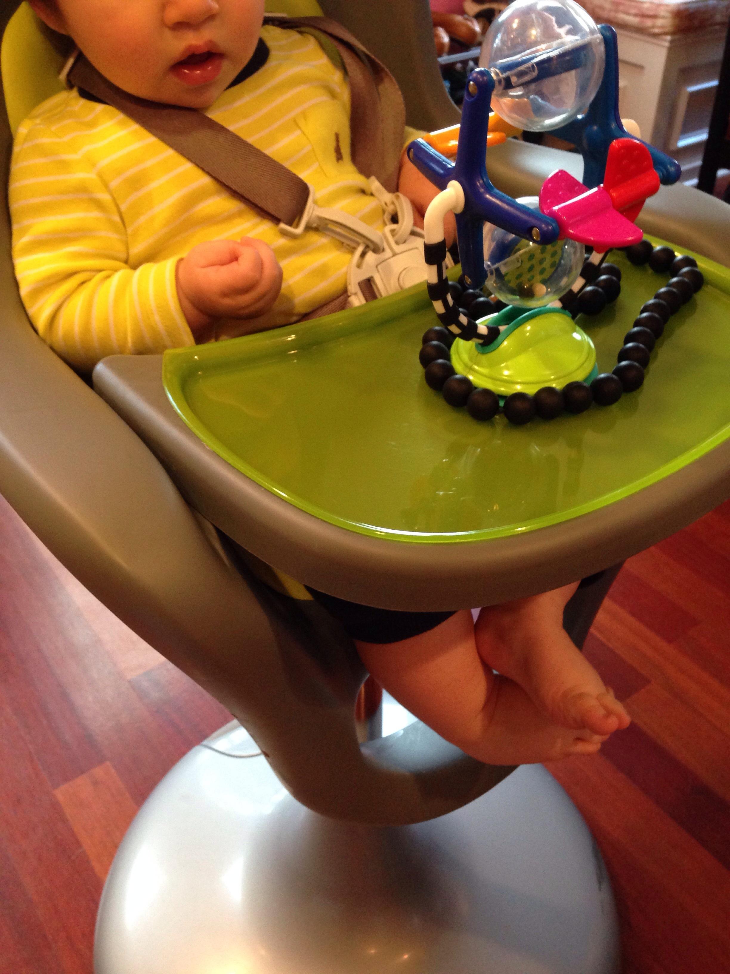 Boon Flair High Chair In Green/Gray